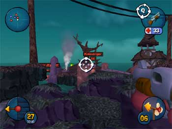 Screenshot of Worms 3D for the PC