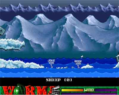 Screenshot of Worms for the Commodore Amiga