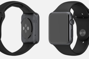 Apple Watch Sport, Space Gray Aluminum Case, Black Sport Band, 42mm