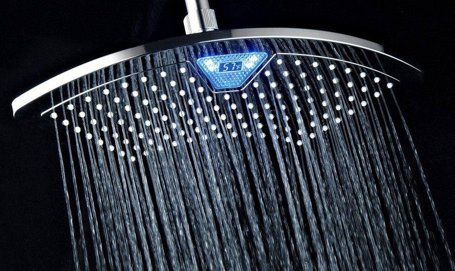 DreamSpa AquaFan Rainfall LED/LCD Shower Head