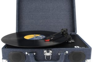 1byone Belt-Drive 3 Speed Stereo Portable Turntable