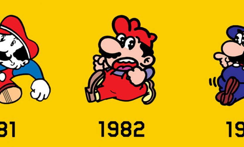 infographic making mario the creation and evolution of mario