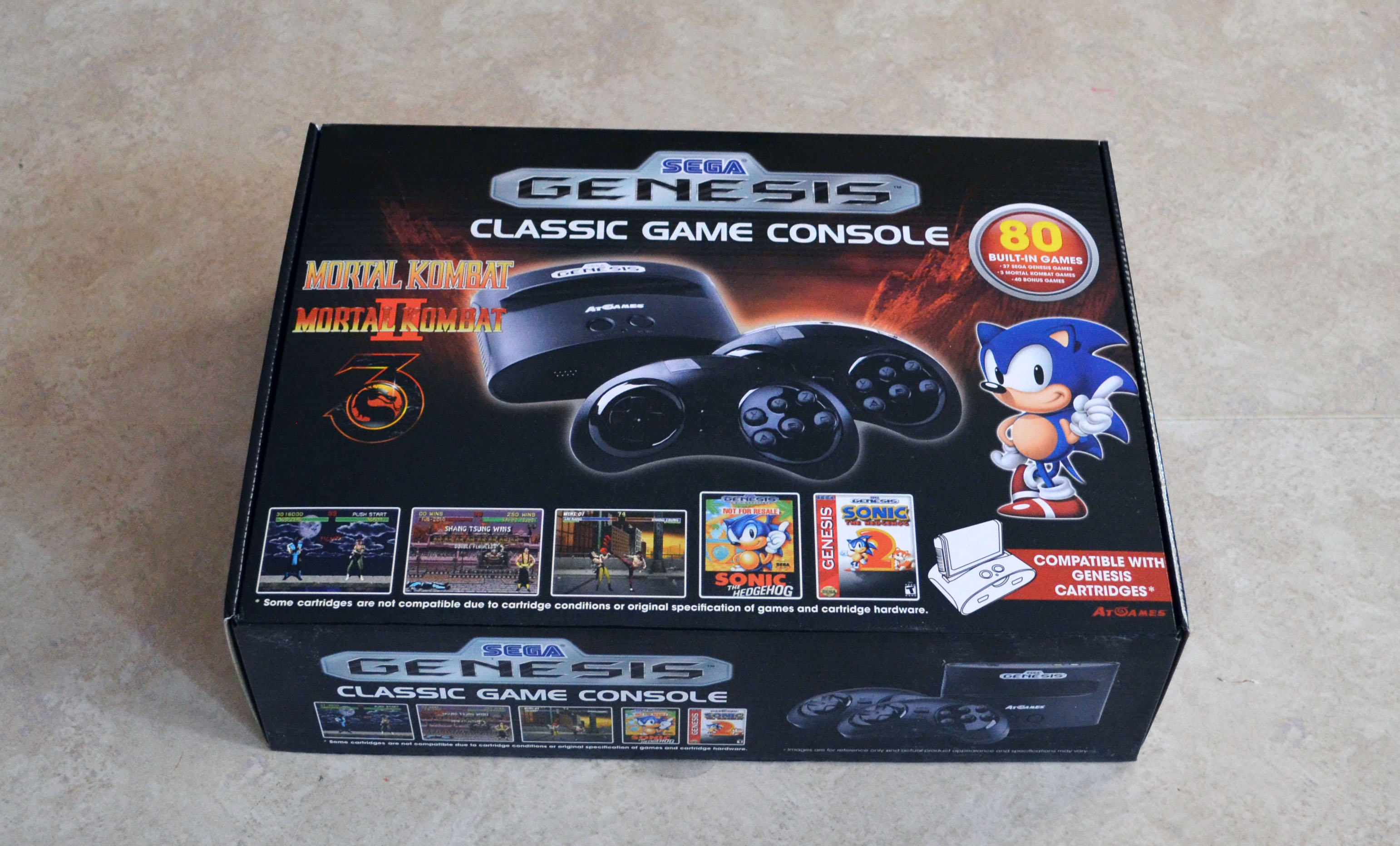 AtGames Genesis Classic Game Console has 80 built-in games ...