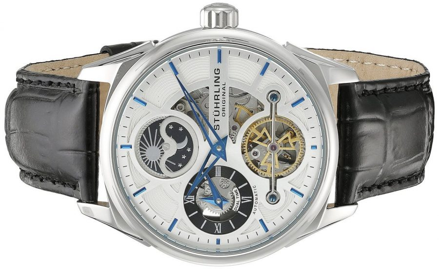 Stuhrling Original Men's 657.01 Delphi Automatic Dual Display Watch