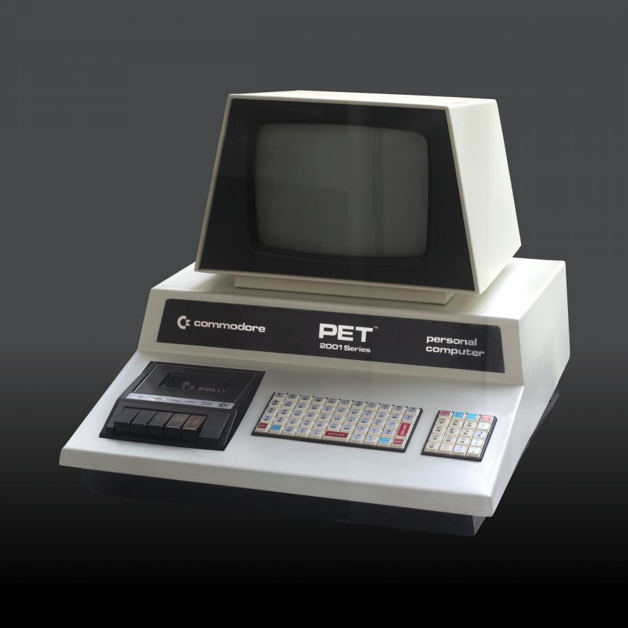 Commodore PET 2001 computer. On display at the Musée Bolo, EPFL, Lausanne.