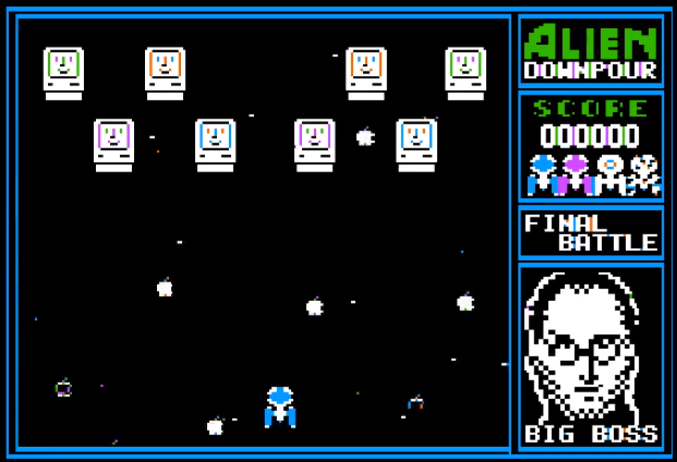 Alien Downpour for the Apple II nearing release!