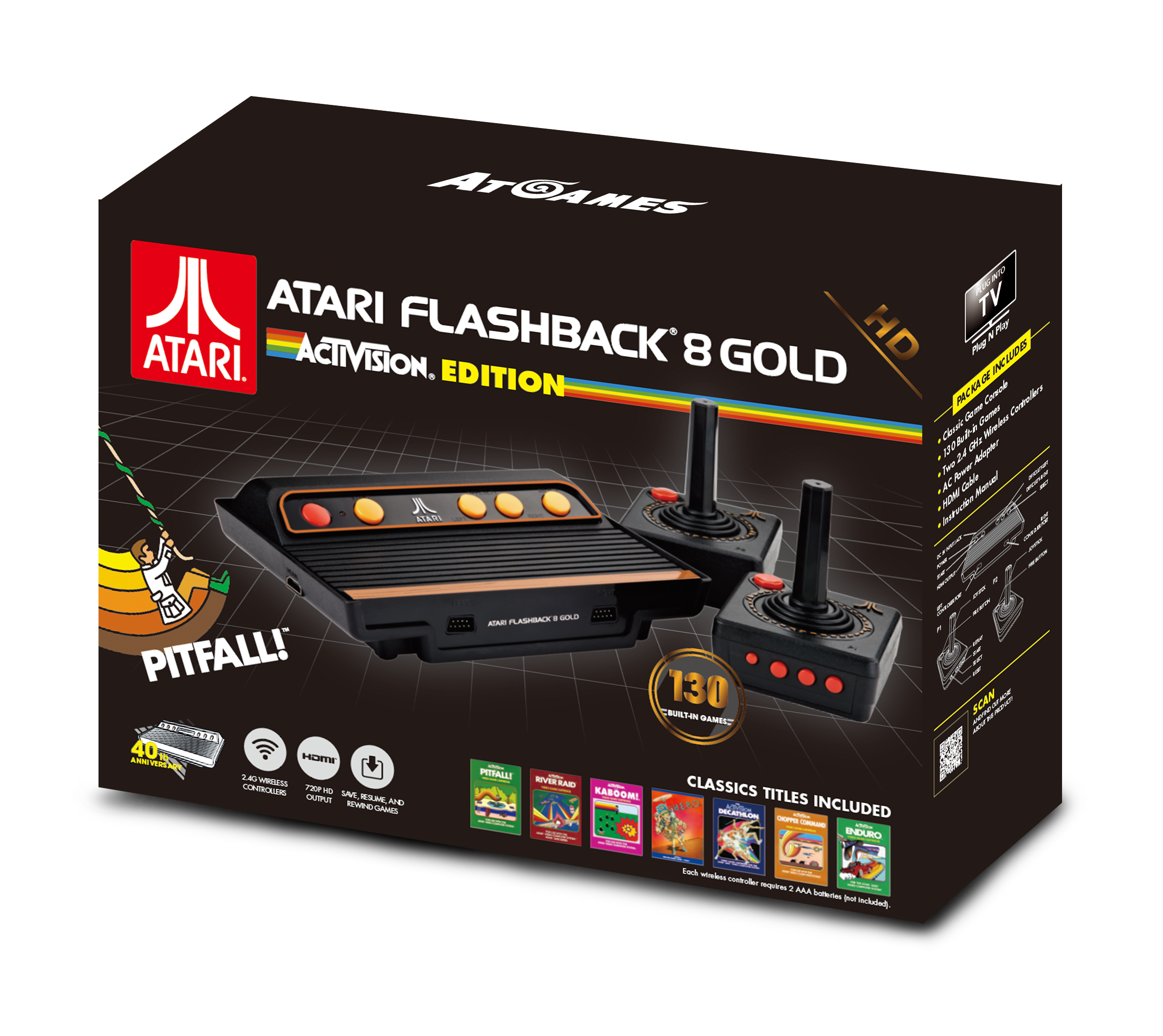 Atari Flashback 8 Gold: Dozens of Atari 2600 games in one ...