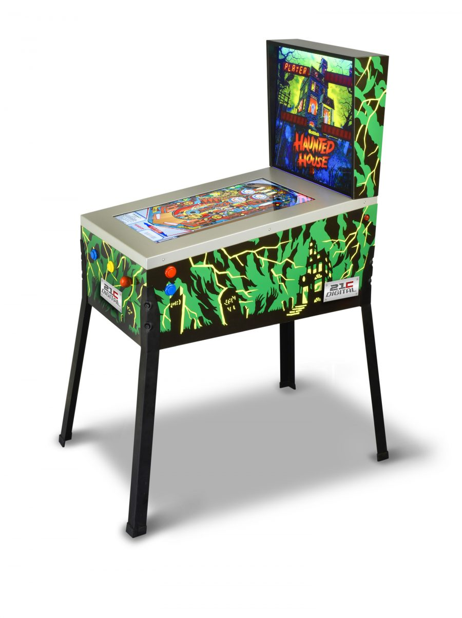 Toy Shock Taiyo 12-in-1 three quarter scale hybrid home pinball machine with Haunted House, Black Hole, and more, now available for pre-order!