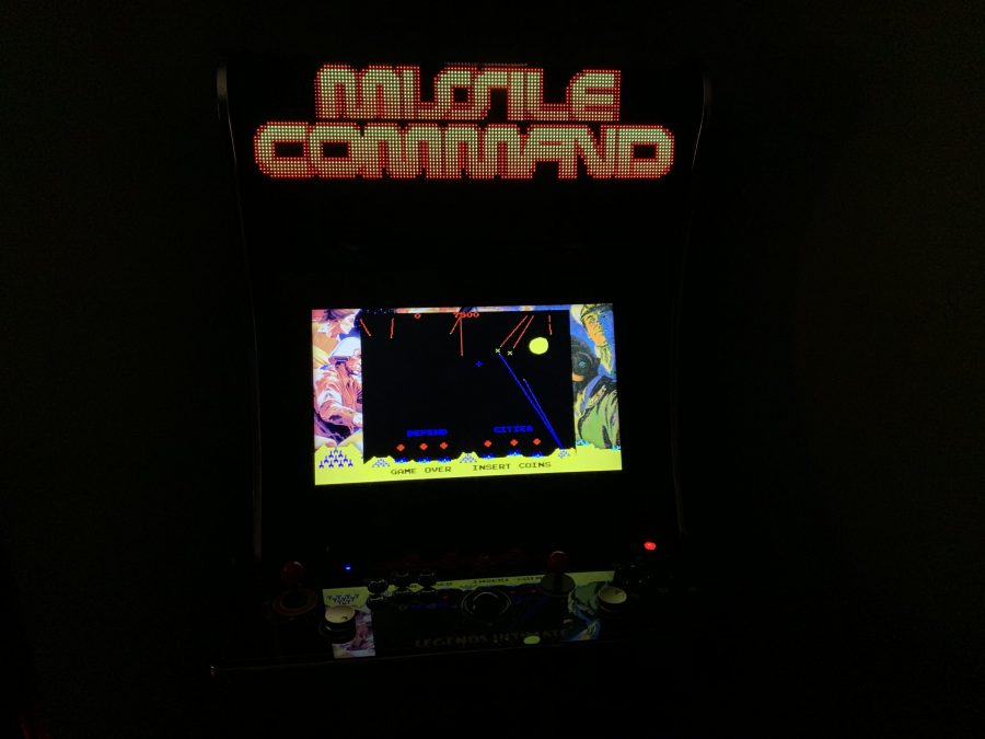 Missile Command running on the Legends Ultimate