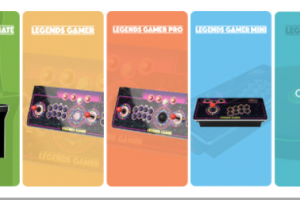 Comparison Chart of the AtGames Legends Arcade Family products running the Legends Arcade Platform