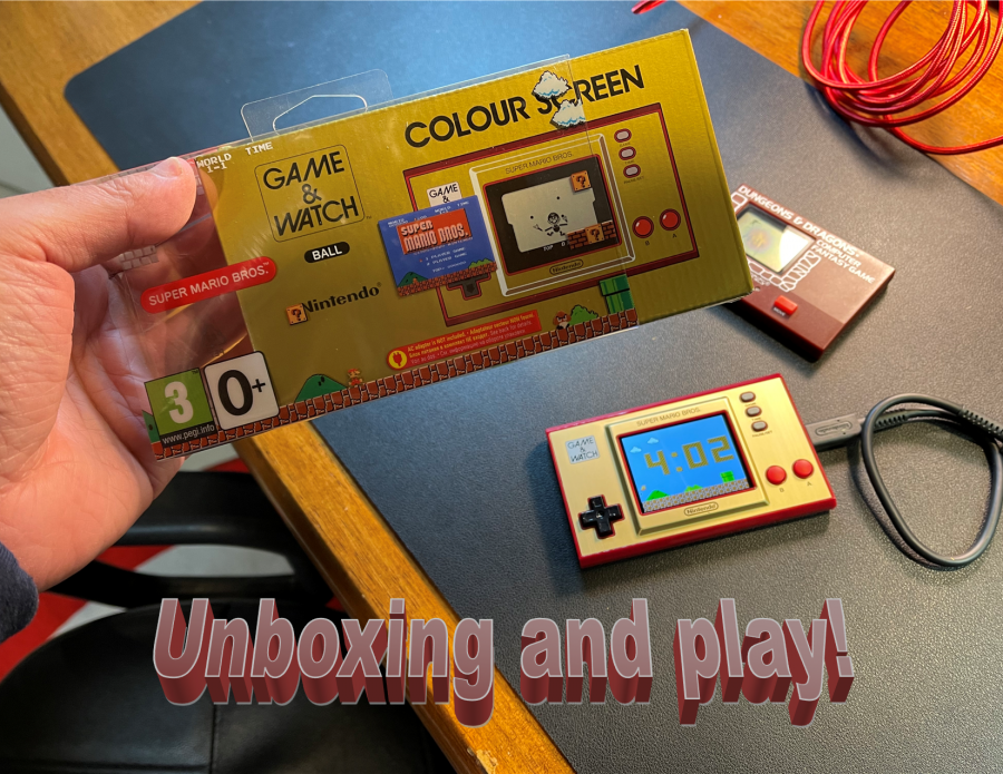 Unboxing Game & Watch Super Mario Bros. (Euro version)