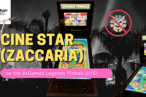 Gameplay video of Cine Star (Zaccaria) on the AtGames Legends Pinball (015)