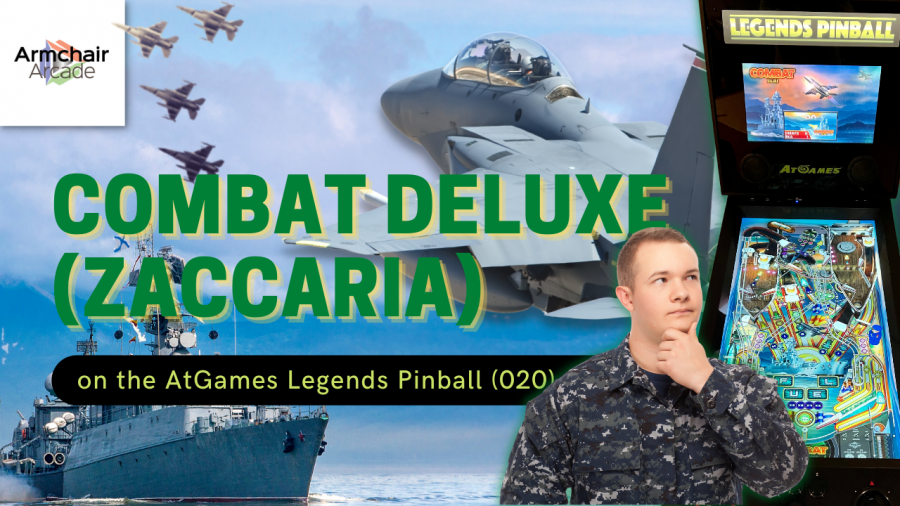 Gameplay video of Combat Deluxe (Zaccaria) on the AtGames Legends Pinball (020)