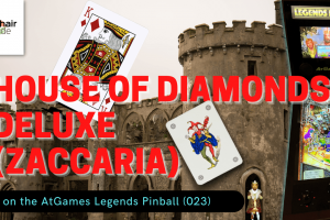 Gameplay video of House of Diamonds Deluxe (Zaccaria) on the AtGames Legends Pinball (023)