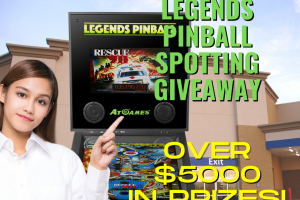 AtGames Legends Pinball Spotting Giveaway is here with over $5000 in prizes