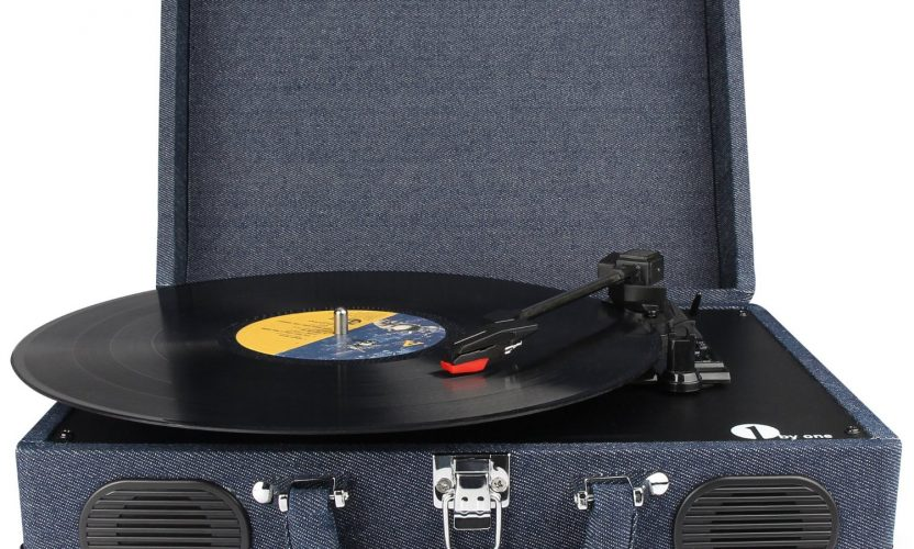 Review: 1byone Belt-Drive 3 Speed Stereo Portable Turntable