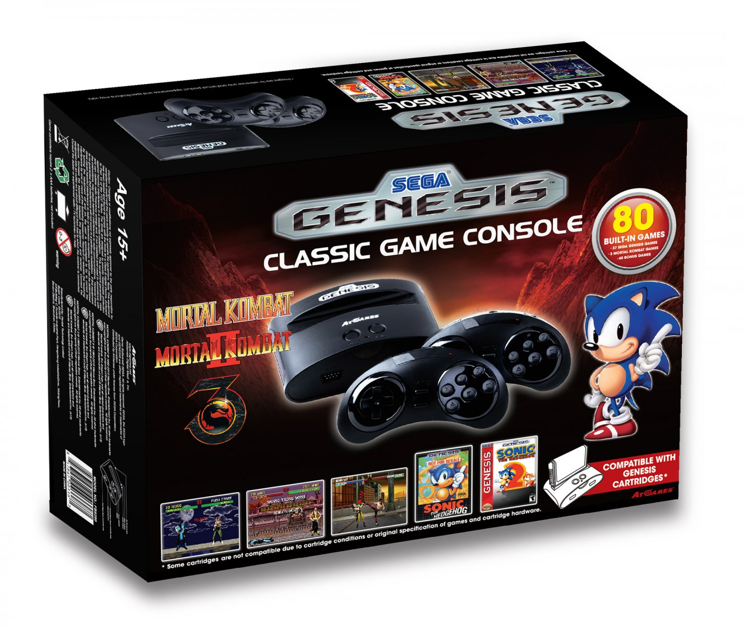 Sega genesis classic game console 2015 the official - Atari flashback classic game console game list ...