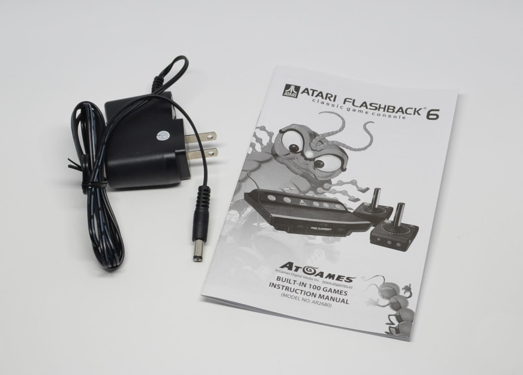 The AC adapter and manual.