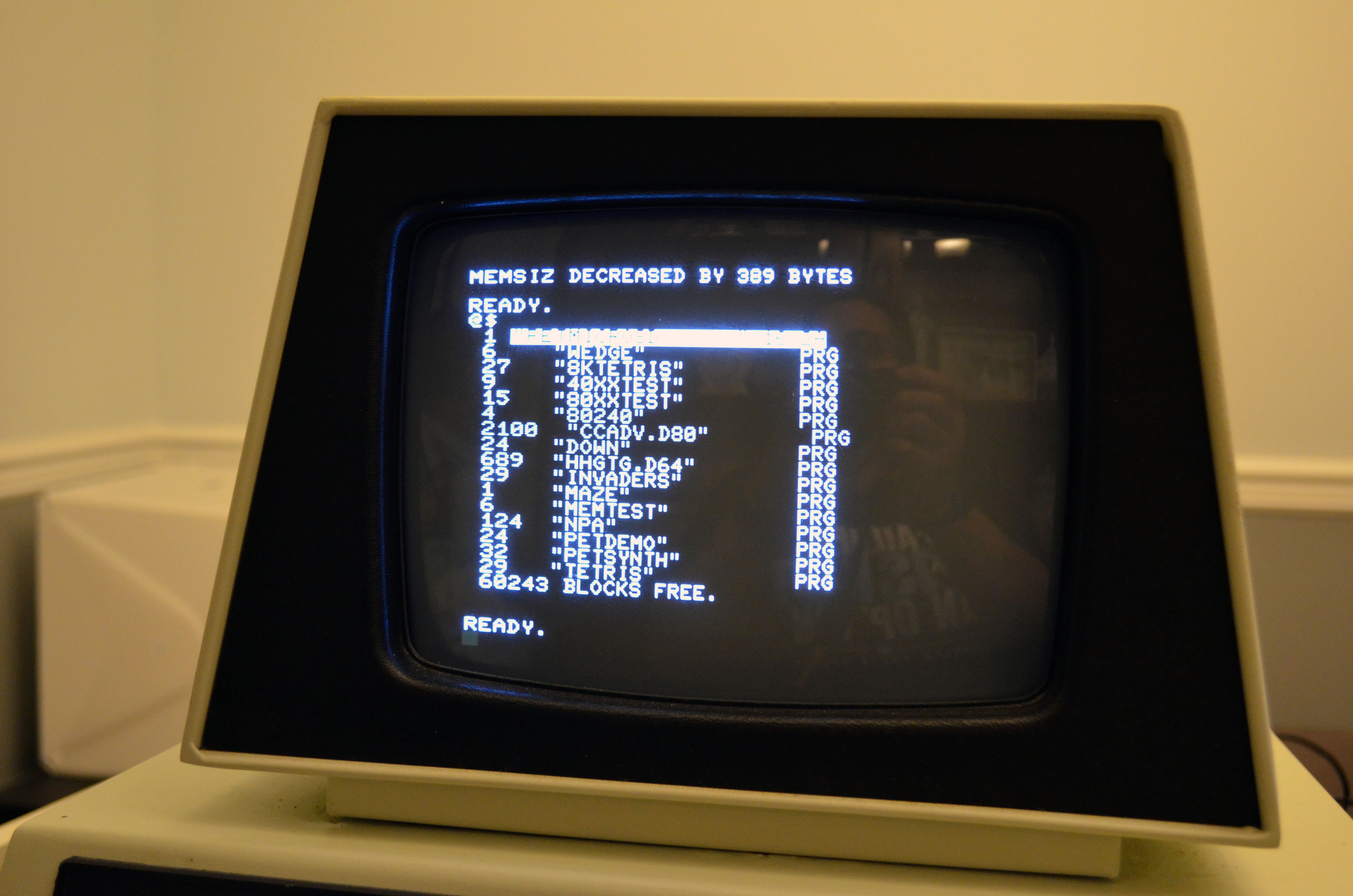 The directory command.