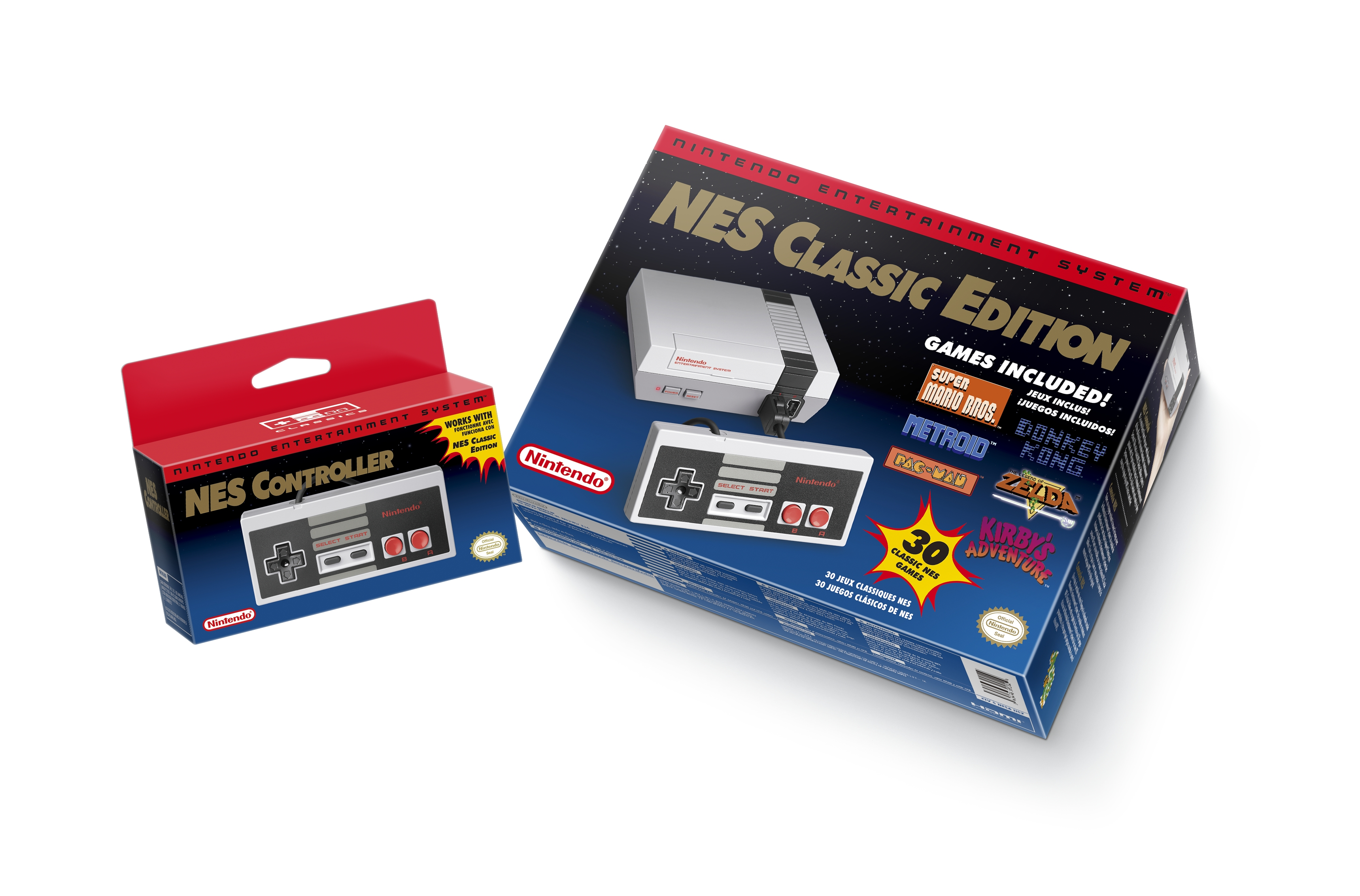 NES Classic Edition and optional second gamepad