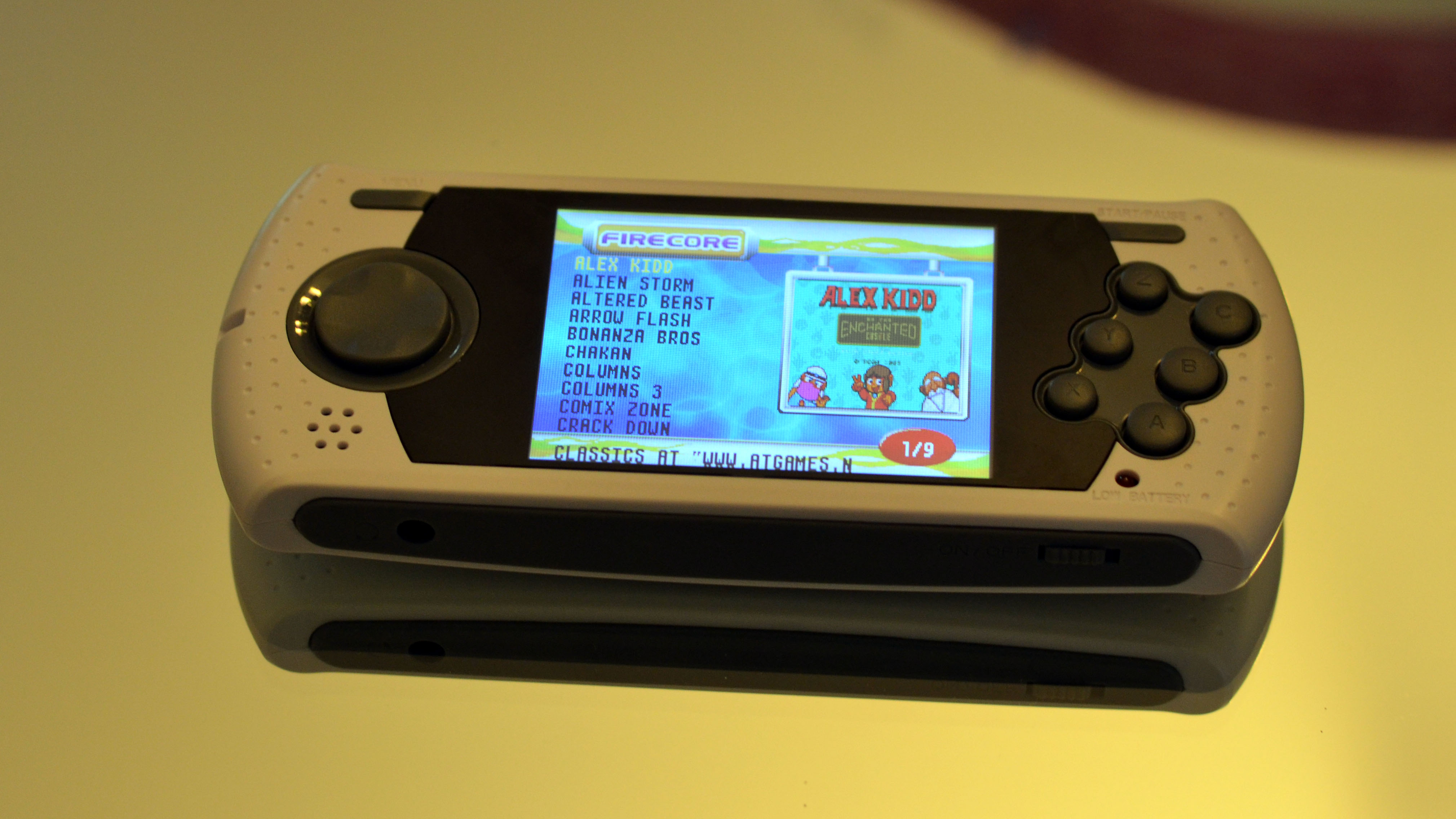 how to put games on at games sega handheld