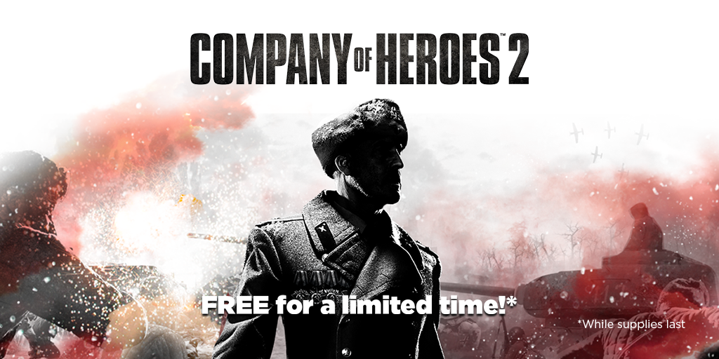 Get a FREE copy of Company of Heroes 2 for next 48 hours!