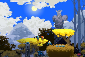 Aegis Defenders, co-op 2D Action-Platformer combined with Tower-Defense combat is out today!